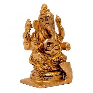 Brass-Vigrahaam-lord-ganesha-left